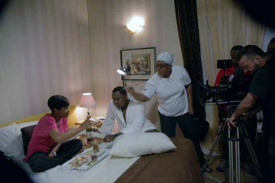 Mildred_Okwo_and_others_on_set_of_''The_Meeting''