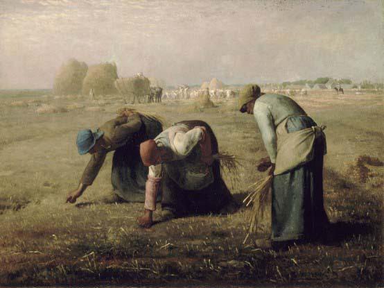 """Jean-François Millet, """"Des glaneuses"""", 1857"""
