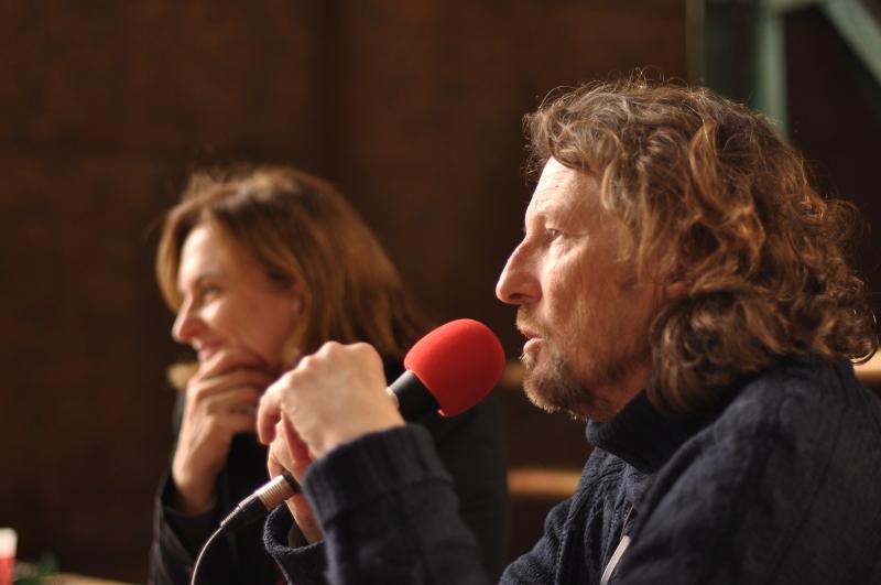 Christophe Farnarier et Nathalie Combe sur le plateau de Radio Grille Ouverte - Festival Itinérances 2017 © Alix Fort
