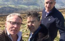 Pierre Carles, Philippe Lespinasse et Jean Lassalle sur le tournage d'Un berger à l'élysée (2017) CP Productions