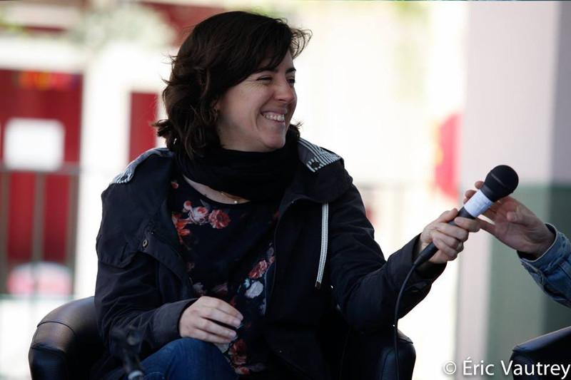 """Catherine Benoît à la table ronde """"Le cinéma québécois au féminin"""" au festival 48 images seconde de Florac © Éric Vautrey 2017"""
