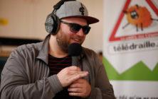 Eric K Boulianne sur le plateau de Radio Bartas et Télédraille au festival 48 images seconde de Florac © Éric Vautrey 2017