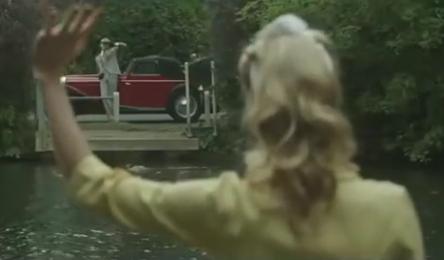 queen car&girl&water