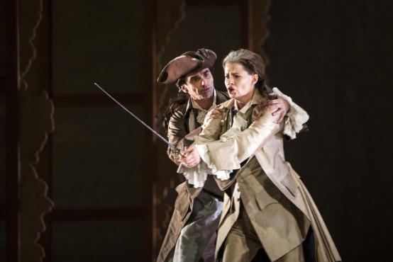 Avec Giovanni Furlanetto (Melisso), dans le rôle de Bradamante, Alcina de Haendel, La Monnaie (Bruxelles), jan/fév. 2015, Rousset/Audi