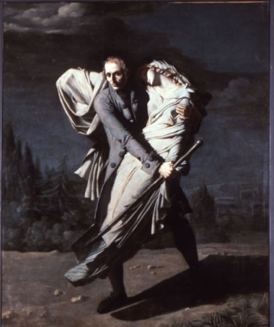 Édouard Young enterrant sa fille à Montpellier