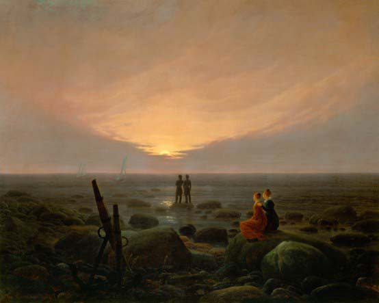 """""""Escalier de lune à la mer"""", Caspar David Friedrich"""