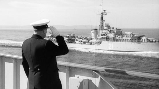 houston_President Josip Broz Tito saluting to sailors on the way to Morocco_09