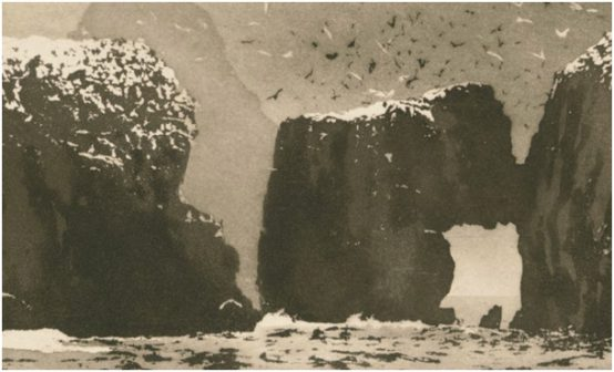 Table of Norman Ackroyd, cover of the album Archipelago.