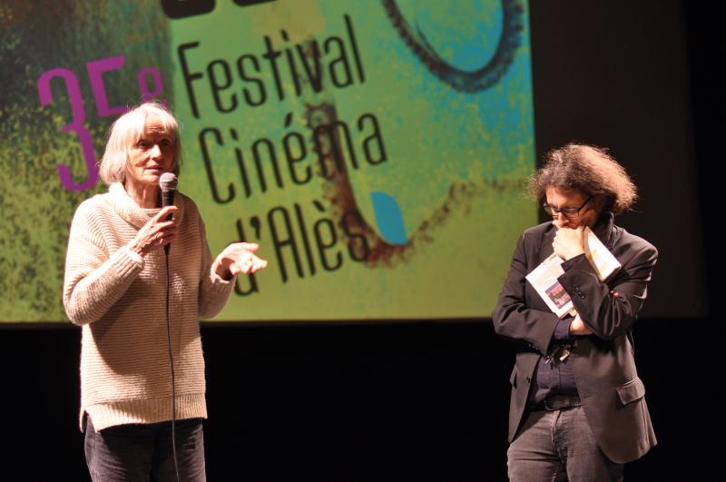 Edith Scob au festival Itinérances, Alès 2017, en compagnie d'Antoine Leclerc © Alix Fort