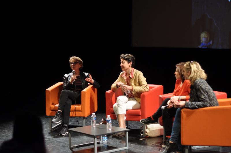"""Esther Hoffenberg à la rencontre sur le thème """"De la visibilité des femmes de cinéma"""" festival itinérances 2017 – © Alix Fort"""