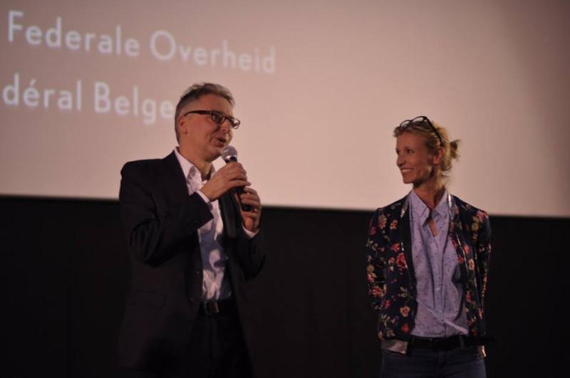 Alexandra Lamy et Christophe Van Rompaey au festival Itinérances, Alès 2017 © Alix Fort