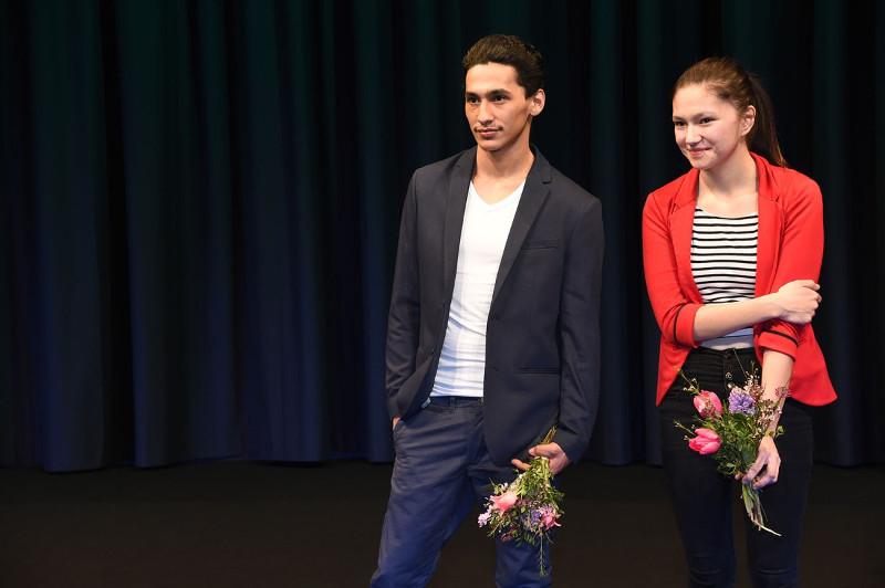 Rykko Bellemare et  Kwena Bellemare-Boivin, acteurs d' Avant les rues, de Chloé Leriche à la Berlinale 2016