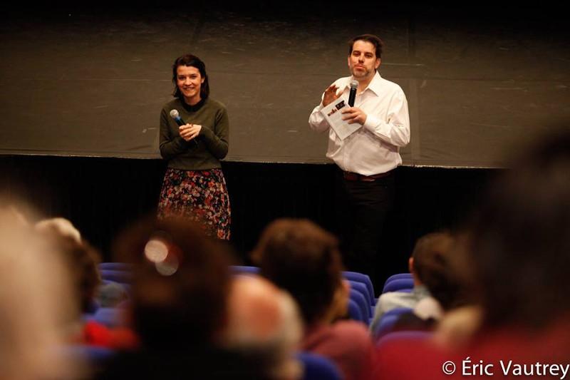 Noémie Brassard et Daniel Racine au festival 48 images seconde de Florac © Éric Vautrey 2017
