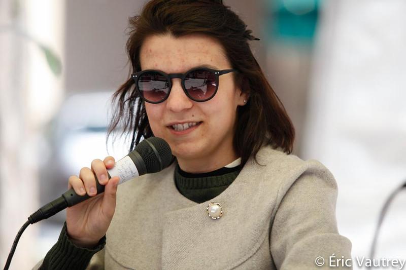 Noémie Brassard à la table ronde « Le cinéma québécois au féminin » au festival 48 images seconde de Florac © Éric Vautrey 2017