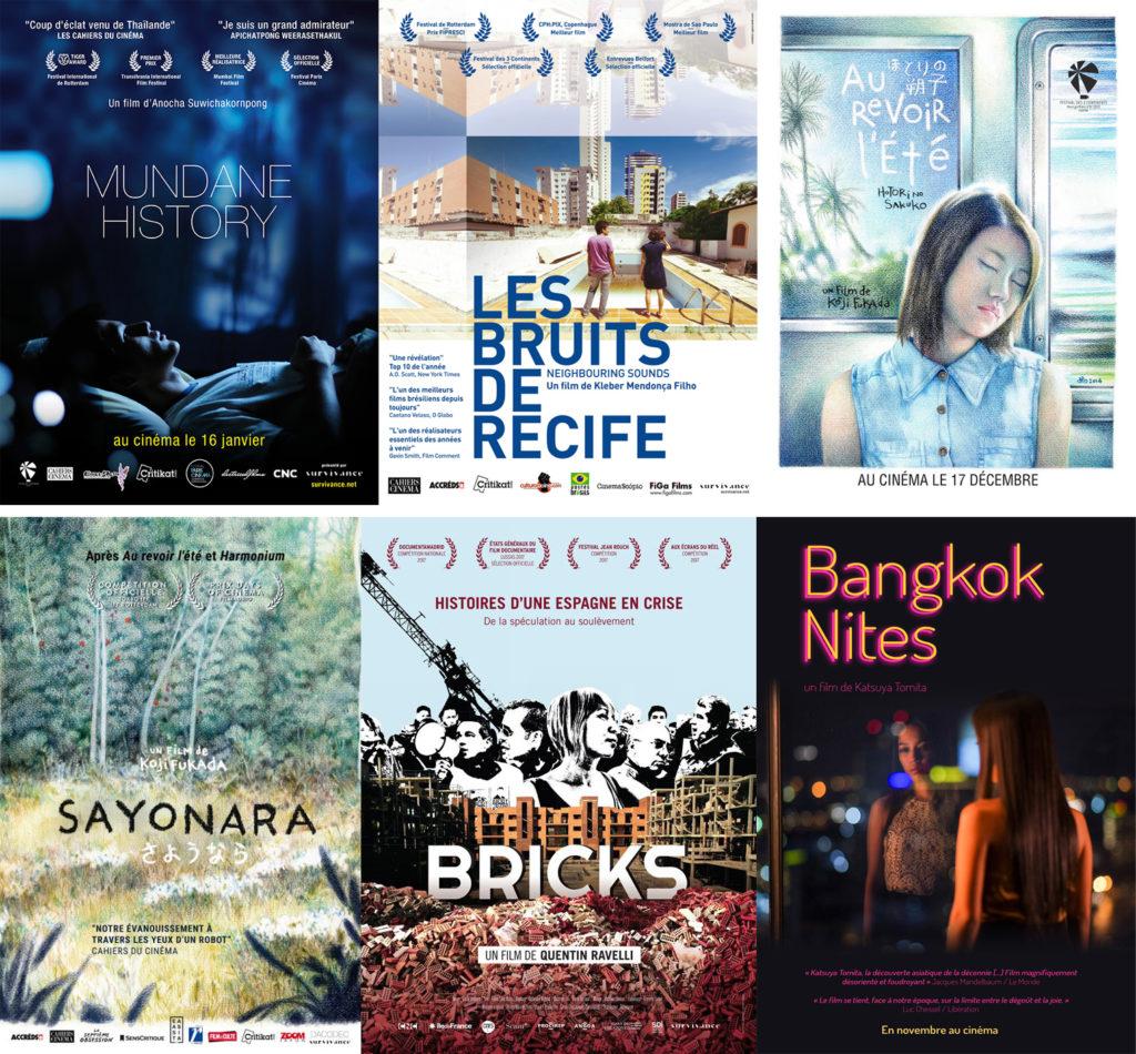 Quelques films distribués par Survivance